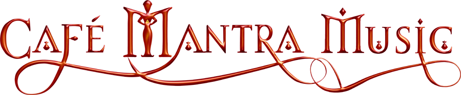 Cafe Mantra Music Red logo